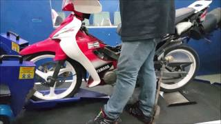 getlinkyoutube.com-Yamaha 125ZR 2T Fully Modded Dyno Health Check Motodynamics Technology Malaysia