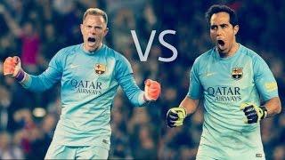 getlinkyoutube.com-Claudio Bravo vs Marc-André ter Stegen ● Best saves ● FC Barcelona 2015-16