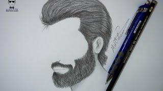 getlinkyoutube.com-طريقة رسم الشعر واللحية للرجل بالرصاص للمبتدئين