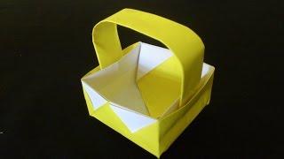 Cara Membuat Origami Keranjang Piknik | Origami Alat