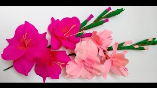 getlinkyoutube.com-Paper Flowers Gladioli / Glads / Gladiolus (Flower # 27)