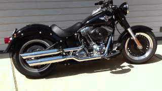 getlinkyoutube.com-Screaming Eagle Exhaust Sound - Harley Fatboy Lo