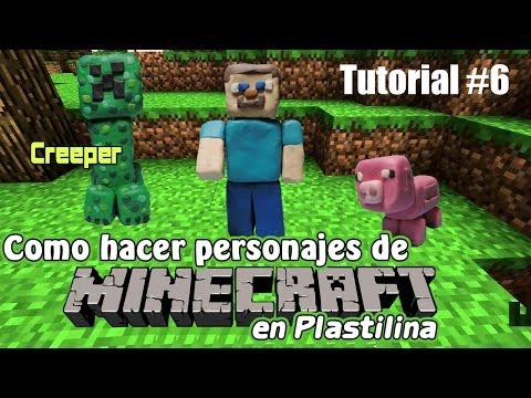Tutorial: Minecraft (Creeper) de Plastilina