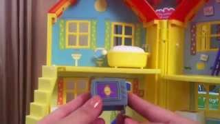(美國玩具介紹)粉紅豬小妹 佩佩的家 驚喜玩具屋組&佩佩和家人玩偶 Fisher-Price Peppa Pig: Peek 'n Surprise Playhouse