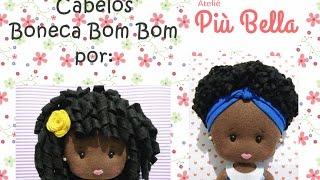 getlinkyoutube.com-Bonequinhas - Como fazer cabelos cacheados em feltro - Ateliê Più Bella