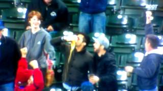Mariners fan catches foul ball in his beer, proceeds to chug it (kind of)