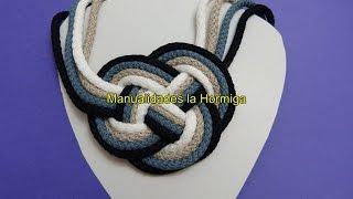 getlinkyoutube.com-DIY Collares artesanales en cordon de algodon  no. 338 Manualidadeslahormiga