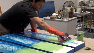getlinkyoutube.com-How to Artist Demo Studio Abstract Painting Gloss / Resin Art by Shane Townley