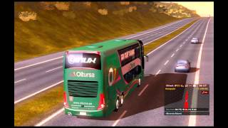 getlinkyoutube.com-Euro Truck Simulator 2 - TSM 4.0 With Bus Volvo B12R 1080p