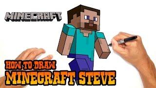 getlinkyoutube.com-How to Draw Minecraft Steve- Video Lesson