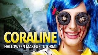 getlinkyoutube.com-Coraline cosplay makeup and prop tutorial
