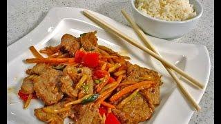 getlinkyoutube.com-Juneći rezanci u woku s povrćem - Fini recepti