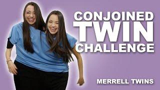 getlinkyoutube.com-CONJOINED TWIN CHALLENGE - MerrellTwins