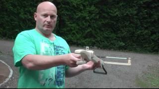 getlinkyoutube.com-Medieval Style Musket Ball Shooting Slingshot Crossbow