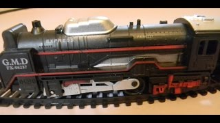 getlinkyoutube.com-Toy Train Videos for children toy in action steam train unboxing running