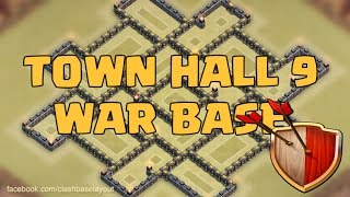 getlinkyoutube.com-Clash of clans - Town hall 9 (TH9) War Base (Rattan) + Replay of TH10 Raid by All Combos