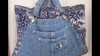 getlinkyoutube.com-Handmade Bib Overall Tote Bags