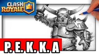 getlinkyoutube.com-How to Draw PEKKA with Pencil Step by Step