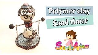 getlinkyoutube.com-Polymer clay Sand Timer- Relógio de Areia (1 minute)