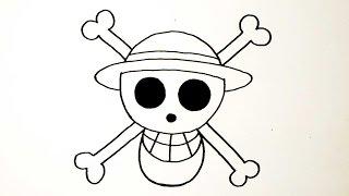 getlinkyoutube.com-สัญลักษณ์ กลุ่มโจรสลัดหมวกฟาง จาก การ์ตูน วันพีช | วาดการ์ตูน กันเถอะ