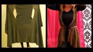 getlinkyoutube.com-2 MINUTE DIY:  Cute Wrap/Vest (Cheap and Simple!)
