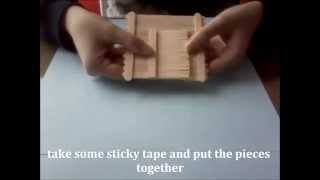getlinkyoutube.com-DIY - Popsicle stick house