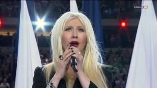 getlinkyoutube.com-Christina Aguilera & Lea Michele - Sing Himno EUA [Superbowl XLV 2011] High Definition