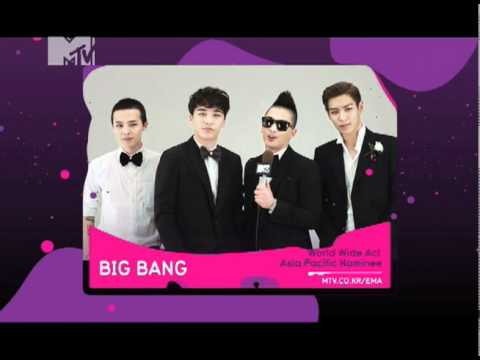 "[BIGBANG] 2011 MTV EMA ""World Wide Act - Asia Pacific Nominee"" (KR)"