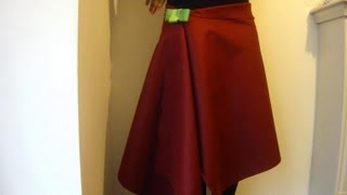 getlinkyoutube.com-DIY No Sew Skirt / How To Make A Wrap Over Skirt In 1 Minute!
