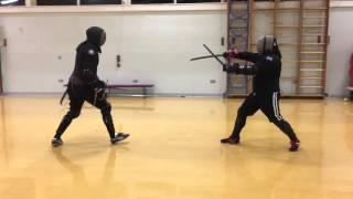 getlinkyoutube.com-Rapier and Dagger vs Katana and Wakizashi sparring. Tom vs Nick