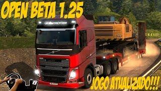 getlinkyoutube.com-OPEN BETA 1.25 - EURO TRUCK SIMULATOR 2 - JOGO ATUALIZADO - G27!!!