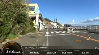 getlinkyoutube.com-三浦半島の久里浜をロードバイクで走る