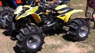 getlinkyoutube.com-4x4 400EX WALKS ON WATER 600EX! Awesome Skimming! CBR600RR Engine on ATV! Hydroplaning Quad!!!