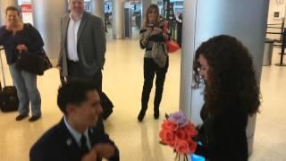 getlinkyoutube.com-Best Wedding Proposal at Miami Internatonal Airport by an Airman