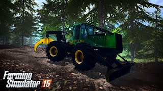getlinkyoutube.com-Farming Simulator 15 - John Deere 748H Skidder