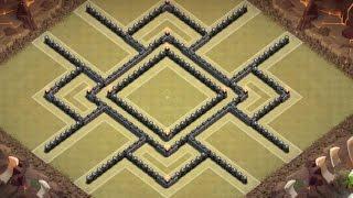 getlinkyoutube.com-Top Th9 War/Trophy Base-The Lockdown-Anti-3 star, Lavaloonion, Dragon, Hog, Giant, & Balloonion