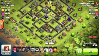 getlinkyoutube.com-TH8 vs Almost Max TH9! 95% Gowipe Attack! How did I do it?