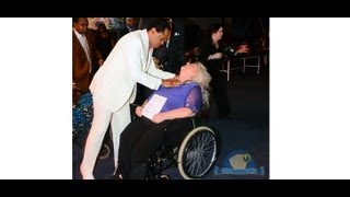 PASTOR CHRIS LAID HAND ON A 57 YEARS OLD WOMAN AND GOT UP FROM WHEEL CHAIR