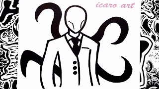 getlinkyoutube.com-Como dibujar a slenderman | how to draw slenderman