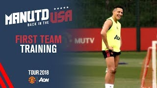 Manchester United Training! | Alexis Sanchez, Martial, Mata | USA Tour 2018 Live on MUTV