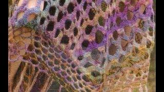 getlinkyoutube.com-Como Tejer chal/pico fácil y rápido a crochet