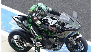 getlinkyoutube.com-史上最速のKawasaki Ninja H2R & Ninja H2デモラン 鈴鹿ファン感謝デー