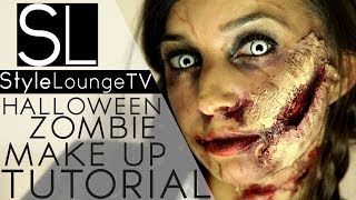 getlinkyoutube.com-Halloween Make Up Tutorial - Walking Dead Zombie DIY