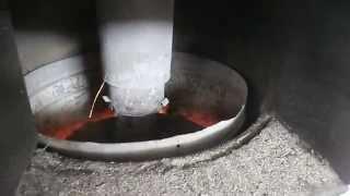 getlinkyoutube.com-centrala termica rumegus,peleti lemne experiment 3