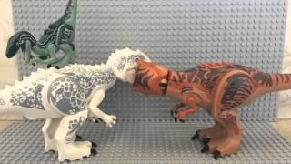 getlinkyoutube.com-LEGO JURASSIC WORLD ANIMATION T.REX VS INDOMINUS REX ANIMATION