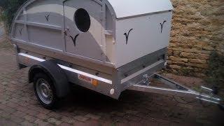 getlinkyoutube.com-Mini caravane sur remorque légère 500 kg
