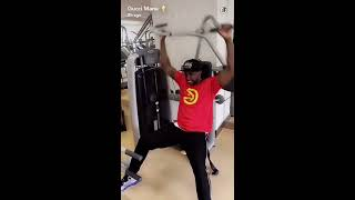 Gucci Mane working out at his home gym snapchat november 2016