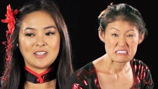 getlinkyoutube.com-Japanese-American Women Try On Geisha Halloween Costumes