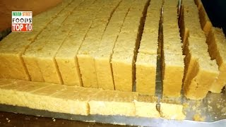 Mysore Pak Making And Cutting - Indian Sweets