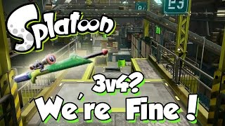 getlinkyoutube.com-Splatoon - 3v4? We're Fine! (30 - 5 Splatterscope Game!)
